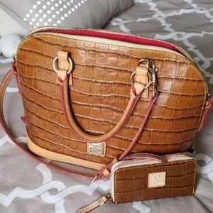 DOONEY & BOURKE - croci satchel & mini wallet